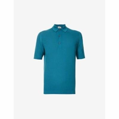 ジョンスメドレー JOHN SMEDLEY メンズ ポロシャツ トップス Roth cotton-knit polo shirt Dragonfly