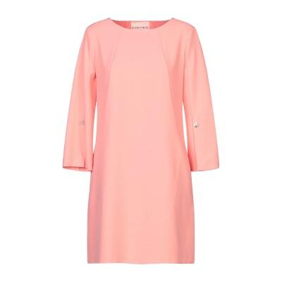 KARTIKA ミニワンピース&ドレス サーモンピンク 42 ポリエステル 92% / ポリウレタン 8% ミニワンピース&ドレス