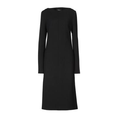 ロシャス ROCHAS 7分丈ワンピース・ドレス ブラック 40 バージンウール 99% / ポリウレタン 1% / シルク 7分丈ワンピース・ドレス