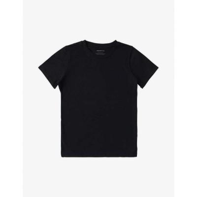 オーガニック ベーシックス ORGANIC BASICS レディース Tシャツ トップス Round-neck organic cotton T-shirt BLACK