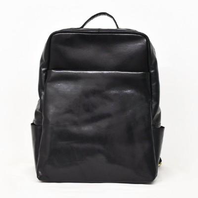 ビジネスリュック 本革 Black バックパック リュックサック バッグ