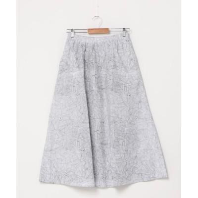 スカート BD/柄物コットンロングスカート