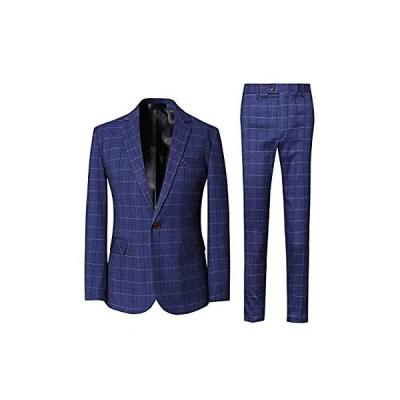 [CEEN] スーツ メンズ 上下セット チェック柄 1つボタン スタイリッシュ
