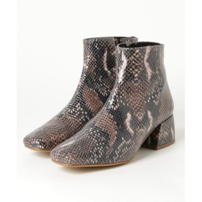 UNCUT BOUND / REMME(レメ) スクエアパイソンショートブーツ WOMEN シューズ > ブーツ