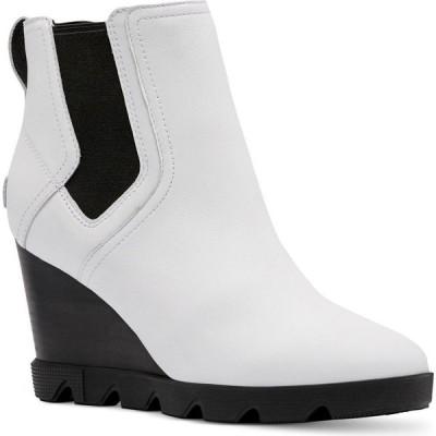 ソレル Sorel レディース ブーツ ブーティー シューズ・靴 Joan Uptown Chelsea Booties White