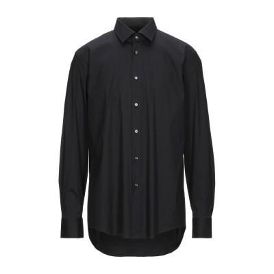 BOSS HUGO BOSS シャツ ブラック 44 コットン 75% / ナイロン 20% / ポリウレタン 5% シャツ