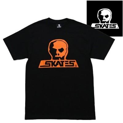 SKULL SKATES Tシャツ SUNSET BLACK x ORANGE