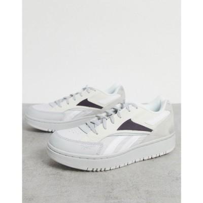 リーボック Reebok レディース スニーカー シューズ・靴 Court Double Mix trainers in white ホワイト