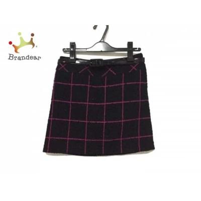 ピンキー&ダイアン Pinky&Dianne スカート サイズ36 S レディース 美品 黒×ピンク ツイード       スペシャル特価 20200306