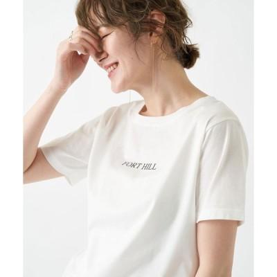 tシャツ Tシャツ 大人カジュアルにおすすめ 60シルケットロゴプリントT