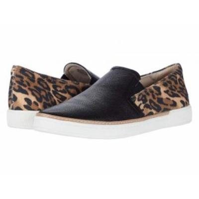 Naturalizer ナチュラライザー レディース 女性用 シューズ 靴 スニーカー 運動靴 Zola Black Cheetah Leather/Tumbled【送料無料】