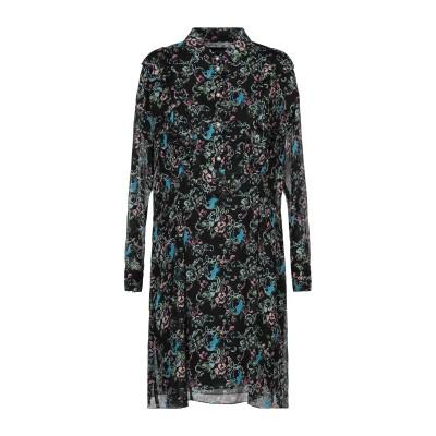 BOUTIQUE MOSCHINO ミニワンピース&ドレス ブラック 38 シルク 100% ミニワンピース&ドレス