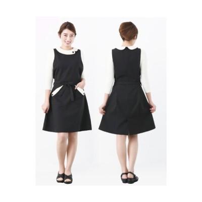 ベリエッラ エプロンJ カラー:ブラックXクリーム エステ用制服 Veriella 高品質のデザイナーズ エステユニフォーム