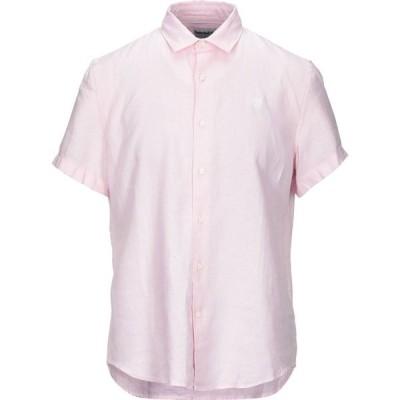 ティンバーランド TIMBERLAND メンズ シャツ トップス Linen Shirt Pink