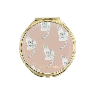 手鏡 ミラー 拡大鏡 キラキラ プレゼント コンパクトミラー 猫パターン ネコ 動物 GMR0188-PK ピンク 雑貨 おしゃれ かわいい