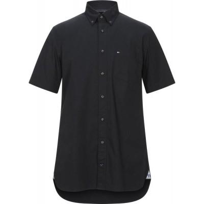 トミー ヒルフィガー TOMMY HILFIGER メンズ シャツ トップス Solid Color Shirt Black