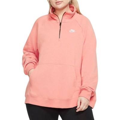 ナイキ レディース シャツ トップス Nike Women's Plus Size Sportswear Essential 1/4-Zip Fleece Top