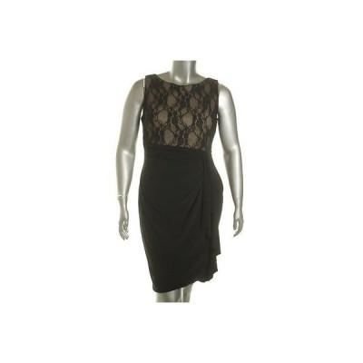 アメリカンリビング ドレス ワンピース フォーマル American Living レディース ドレス A-Line 14 ブラック Lace Trim ナイロン Regular LAFO