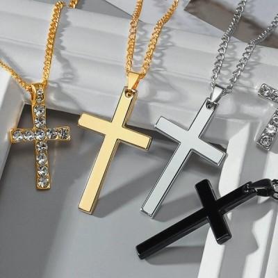 ネックレス 十字架 アクセサリー ペア ユニセックス アクセ
