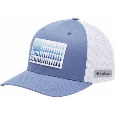 コロンビア メンズ 帽子 アクセサリー Columbia Men's Mesh Tree Flag Ball Cap Bluestone/White