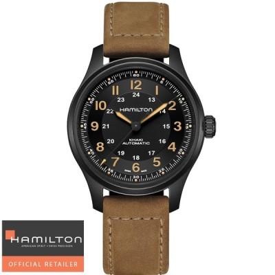 ハミルトン 腕時計 カーキ フィールド HAMILTON チタニウムオート ブラック H70665533 国内正規品