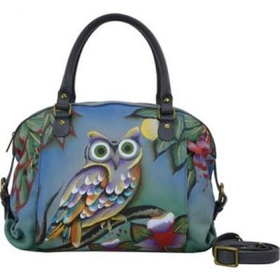 アヌシュカ ANNA by Anuschka レディース ハンドバッグ サッチェルバッグ バッグ Top-Zip Dual Front Pocket Satchel 8179 Midnight Owl