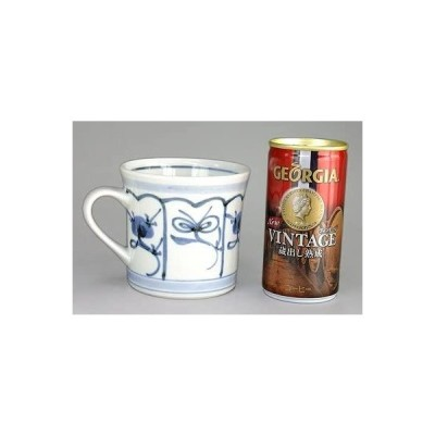 砥部焼 梅山窯 反りマグカップ(なずな)