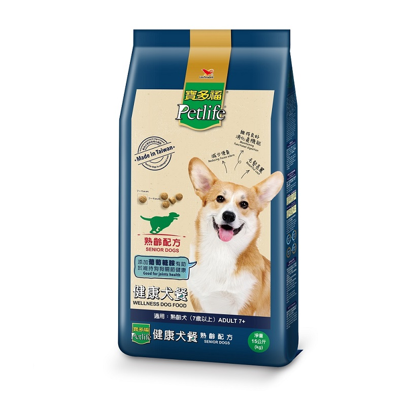 寶多福健康犬餐熟齡犬專用配方袋15Kg