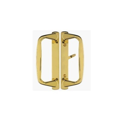"""Aspen Sliding Door Handle in Polished Brass Finish Fits 3-15/16"""" CTC Screwh"""