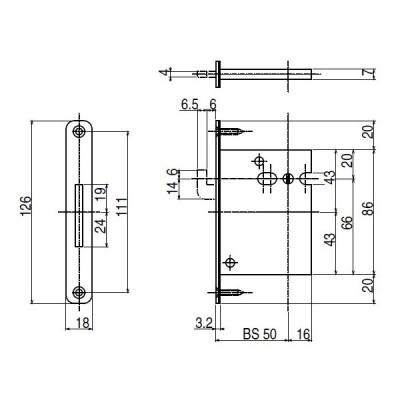 送料込み YKK 室内建具 室内引戸部品 錠ケース 受け 引戸錠ケース HH3K16524