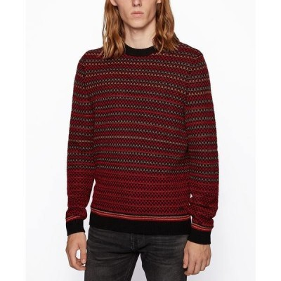 ヒューゴボス ニット&セーター アウター メンズ BOSS Men's Acree Regular-Fit Sweater Black