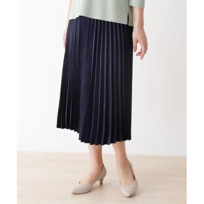 (SHOO・LA・RUE DRESKIP/シューラルー ドレスキップ)キラキラプリーツスカート/レディース ネイビー(093)