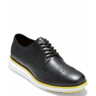 コールハーン メンズ スニーカー シューズ Men's OriginalGrand Waterproof Wingtip Golf Shoes Black/White