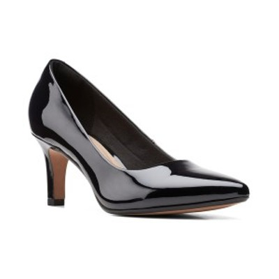 クラークス レディース パンプス シューズ Collection Women's Illeana Tulip Pumps Black Leather and Synthetic