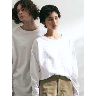 LOOSE T-SHIRT/クルーネックポケット付きロングTシャツ【UNISEX】