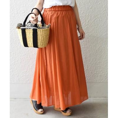 【シップス】 フレアマキシスカート◇ レディース オレンジ ONESIZE SHIPS