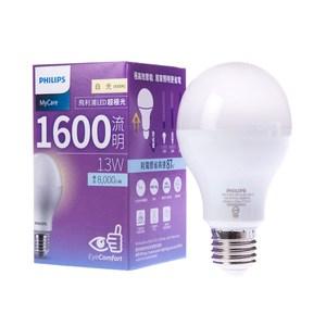 飛利浦LED超極光球型燈泡13W自然光