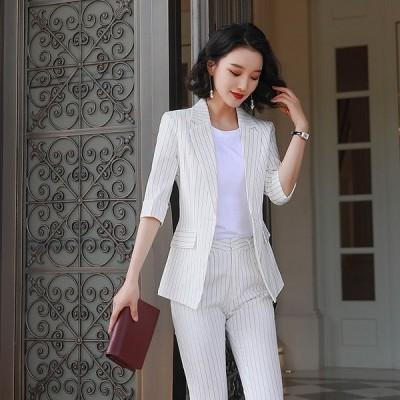 レディース 細身 スーツジャケット テーラード ブレザー フォーマル ビジネスジャケット 薄手 サマージャケット オフィス 通勤 着痩せ