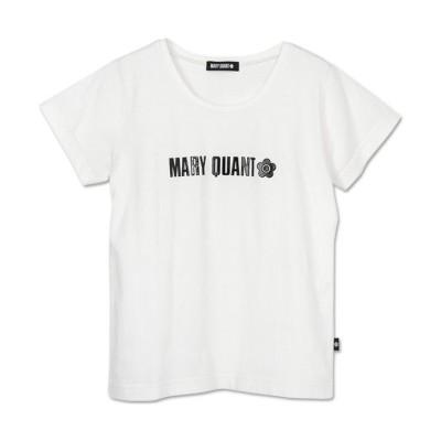 【マリークヮント】 フクレロゴプリント Tシャツ レディース ホワイト M MARY QUANT