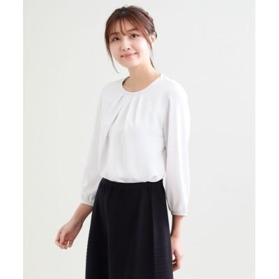 SANYO SELECT / 【ウォッシャブル】カットソーコンビプルオーバー WOMEN トップス > Tシャツ/カットソー