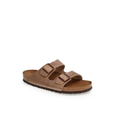 ビルケンシュトック BIRKENSTOCK メンズ サンダル シャワーサンダル シューズ・靴 Arizona Soft Slide Sandal Tabacco
