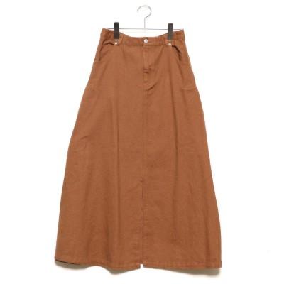 スタイルブロック STYLEBLOCK 起毛カツラギサイドタックロングスカート (キャメル)