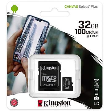 金士頓 Kingston 32GB microSDHC Class10 記憶卡 送SD轉卡