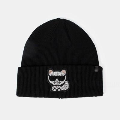 カールラガーフェルド KARL LAGERFELD ニット帽 ニットキャップ 帽子 206W3401