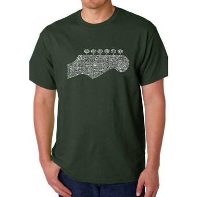 エルエーポップアート メンズ Tシャツ トップス Word Art Graphic T-Shirt - Guitar Head