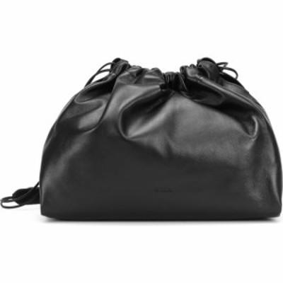 ジル サンダー Jil Sander レディース ショルダーバッグ バッグ leather drawstring shoulder bag Black