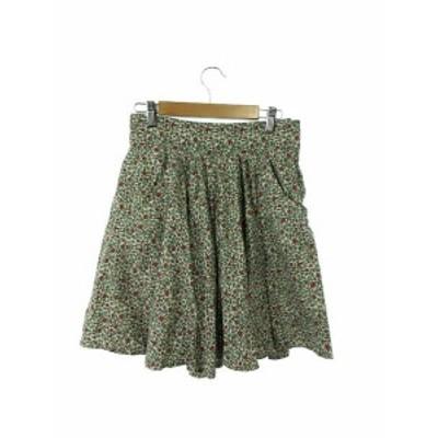 【中古】セホ ceho スカート フレア 花柄 ミニ M 緑 グリーン /N3N19 レディース