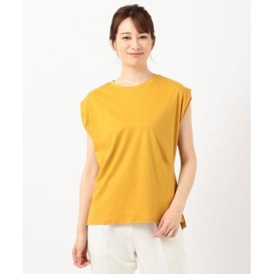 L size ONWARD(大きいサイズ)/エルサイズオンワード 【Ray6月号掲載】Rich cottonスムース フレンチスリーブ Tシャツ マスタード 4