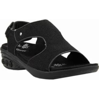 Therafit レディースサンダル Therafit Cassandra Sandal Black Fabric