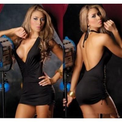 E252c 【ブラック】ポイント消化 新品 超セクシー キャバ嬢 ナイトドレス ワンピース ボディコン レディース コスプレ衣装 ランジェリー